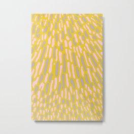 Organic Abstract Yellow Lime Metal Print