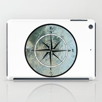 compass iPad Cases featuring Compass by madbiffymorghulis
