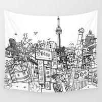 toronto Wall Tapestries featuring Toronto! by David Bushell