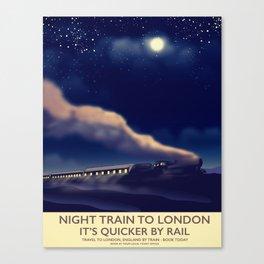 Night Train To London Canvas Print