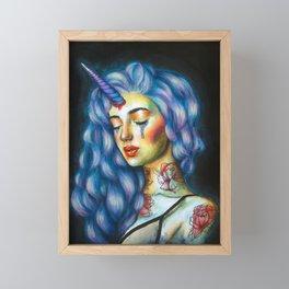 Unicorn tears Framed Mini Art Print