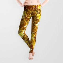 Glittering Golden Stars Leggings