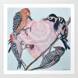 Woodpecker Heart Art Print