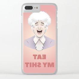 "Amadeus: ""Eat my sh*t"" Clear iPhone Case"