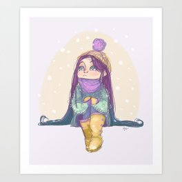 Winter! Art Print