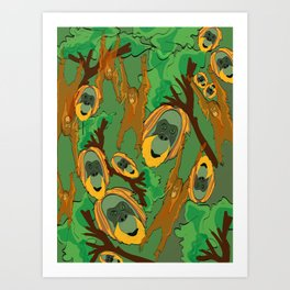 Save the orangutans Art Print