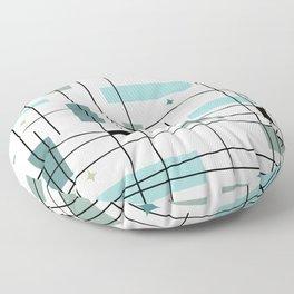 Mid Century Art Bauhaus Style Floor Pillow
