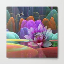 Lotus flower in a magical pool Metal Print