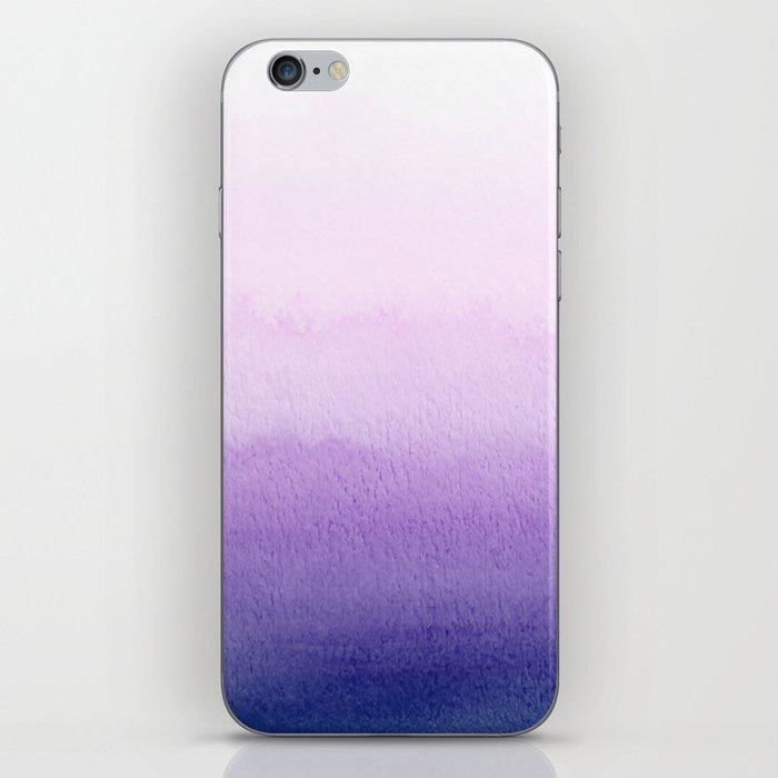 Purple Watercolor Design iPhone Skin