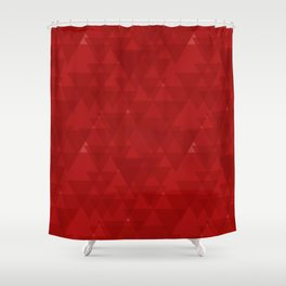 Delicate maroon triangles in the intersection and overlay. Shower Curtain