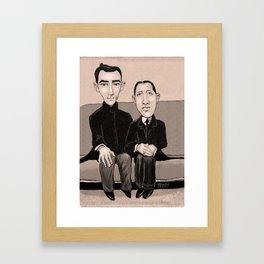 Ravel and Stravinsky Framed Art Print