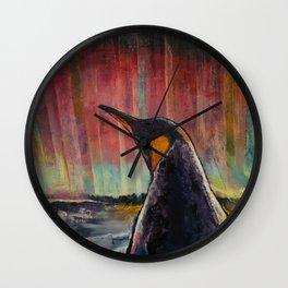 Aurora Penguin Wall Clock