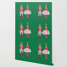 Nutcracker Ballet - Candy Cane Green Wallpaper