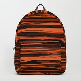 Harvest Orange Abstract Lines Backpack
