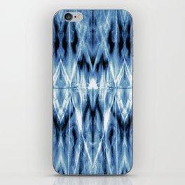 Blue Satin Shibori Argyle iPhone Skin