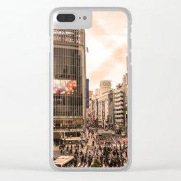 Shibuya Tokyo Japan ArtWork Photography Clear iPhone Case
