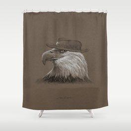 Eagle Sheriff Portrait Shower Curtain