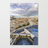 madrid Canvas Prints featuring Madrid by Solar Designs