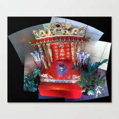 Buddhist Shrine at J. Wong's Asian Bistro in Downtown Salt Lake City, September 2012 Canvas Print