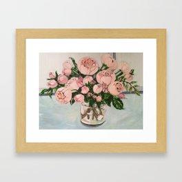 Blush pink roses.. Framed Art Print