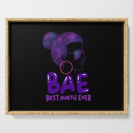BAE Best Auntie Ever Niece Nephew Family Love Gift Serving Tray