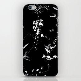 Plants & Paper clips Photogram iPhone Skin