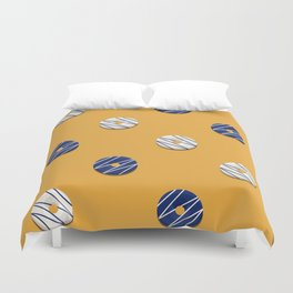 White & Blue Duvet Cover