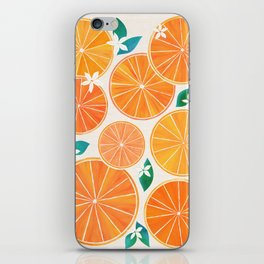 Orange Slices With Blossoms iPhone Skin