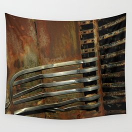 Detail Rusted International Truck 2 Wall Tapestry