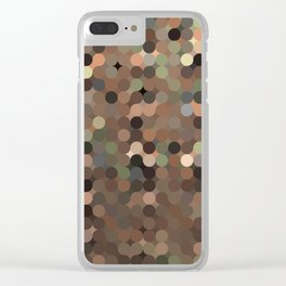 maija - variegated soft earth tone abstract pattern Clear iPhone Case
