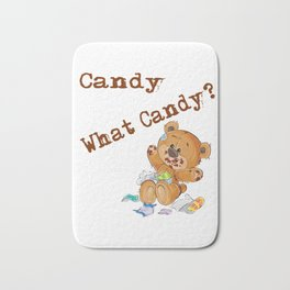Candy What Candy Teddy Bear Gifts Bath Mat