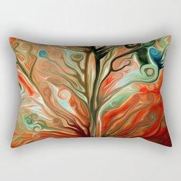 Surreal tree Rectangular Pillow