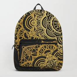 Gold mandala card Backpack