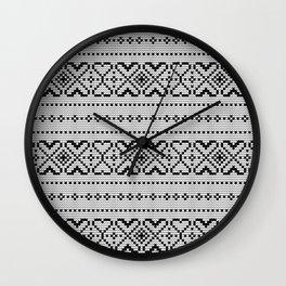 Pattern in Grandma Style #70 Wall Clock