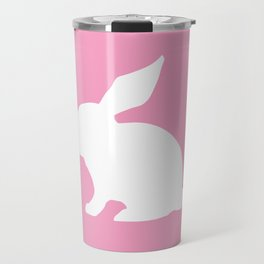 Bunny On the Pink Travel Mug