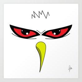 Angry White Bird Art Print