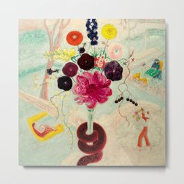"Florine Stettheimer ""Birthday Bouquet (Flowers With Snake)"" Metal Print"