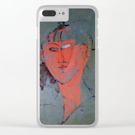 Amedeo Modigliani - The Red Head Clear iPhone Case