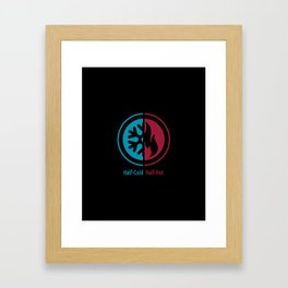 Half-Cold Half-Hot Framed Art Print