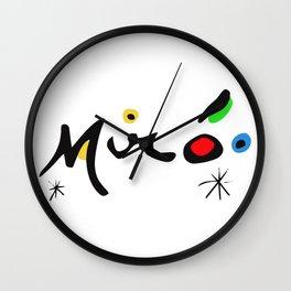 Joan Miro Colorful Signature Artwork for Prints Posters Tshirts Bags Women Men and Kids Wall Clock
