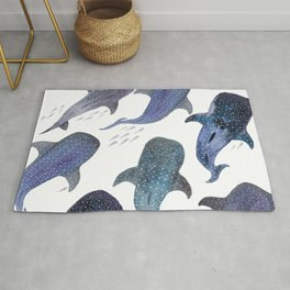 Whale Shark Pattern Party Rug
