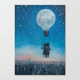 Our Love Will Light The Night Canvas Print