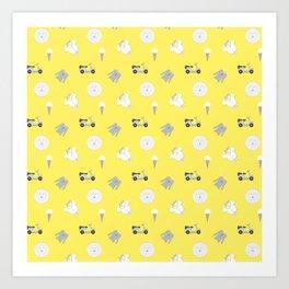 Greg Pattern Art Print