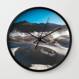 Geysers in the Atacama Desert, Bolivia Wall Clock