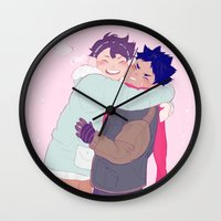 haikyuu Wall Clocks featuring tiny iwaois by viria