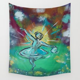 Adoration in Dance Wall Tapestry