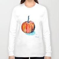 pumpkin Long Sleeve T-shirts featuring Pumpkin by Elena Sandovici