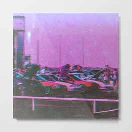 Cyberpunk 80's Parking Aesthetic Metal Print