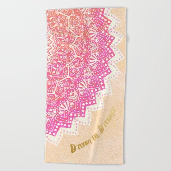 FAIRY MANDALA Beach Towel