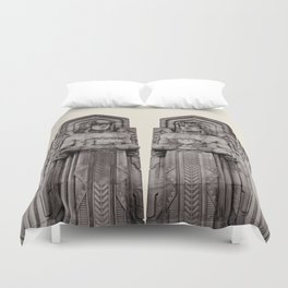 Guardians in Oatmeal Duvet Cover